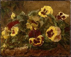 Pansies Henri Fantin-Latour (French, Grenoble 1836–1904 Buré)