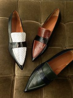 Celine, Fall 2014, pointy loafers #loafers #shoes #flats