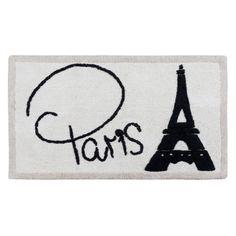I Love Paris Rug by Creative Bath Products