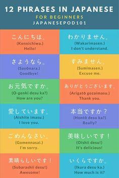 JapanesePod101 12 Japanese Phrases for beginners