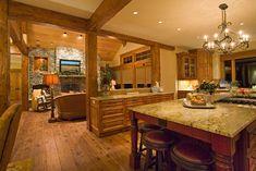 great room open to kitchen | New Custom Home Builder at Caldera Springs in Sunriver, Oregon | Steve ...