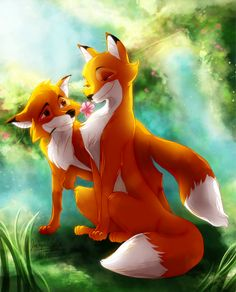 """""""Vixey and Tod"""" Fox and the Hound fan art by *MistyTang on Deviantart"""