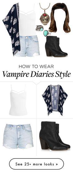 """The Vampire Diaries: Malia Gilbert [5x1]"" by grandmasfood on Polyvore featuring rag & bone, Sans Souci, Topshop and Arizona"