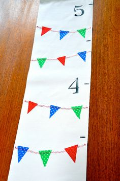 bunting growth chart - awesome!    http://www.etsy.com/listing/75239083/a-handmade-growth-chart-colorful-mini