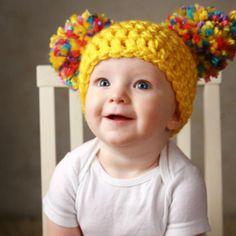 ベビー用ニット帽/Yellow Pink White Blue Purple by Yum Baby