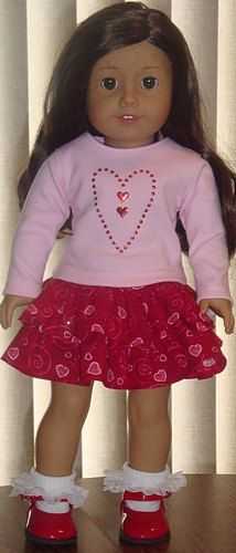 Heart Print Skirt & TShirt With Applique by AngelKissesBoutique, $22.99
