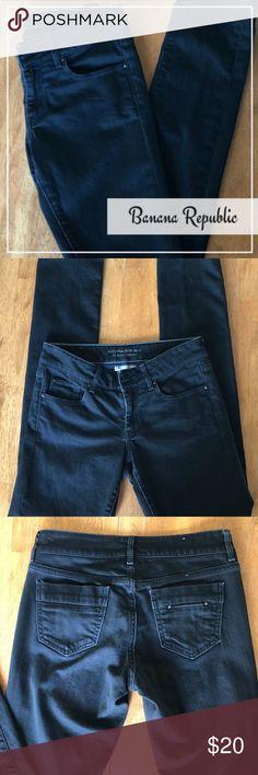 ‼️price ⬇️ Banana Republic Women's BLACK Jeans -SIZE 2  -CLASSIC SKINNY -BLACK DENIM  -SUPER CUTE!! Banana Republic Jeans Skinny