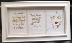 Gold Foil Marilyn Monroe 3 Frame by bellacart on Etsy