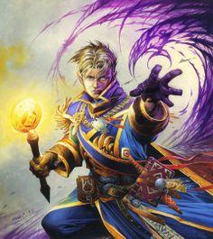 Anduin Wrynn by Wayne Reynolds Wayne Reynolds, Fantasy Wizard, Fantasy Rpg, Warcraft Characters, Fantasy Characters, Art Warcraft, World Of Warcraft Movie, Hearthstone Heroes Of Warcraft, Dragons