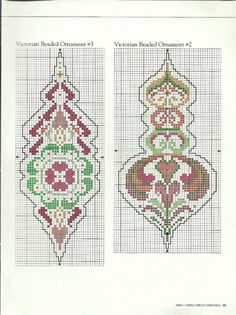 Victorian Beaded Ornaments • 3/3 Designs #2 and #3