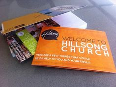 Welcome Packet // Hillsong Church Church Graphic Design, Church Design, Hillsong Christmas, Church Welcome Center, Hillsong Church, Church Stage, Church Lobby, Church Outreach, Church Ministry
