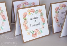 Rustykalne, kwiatowe zaproszenia na ślub Wedding Accessories, Scrapbooking, Frame, Handmade, Gifts, Style, Invitations, Picture Frame, Swag