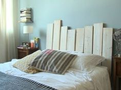 1000 images about deco lit on pinterest headboards - Tete de lit en bois fait maison ...