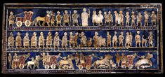 Sumerian Standard of Ur (war side) from Sumerian holy city Ur, hometown of Patriarch Abraham   C.2600 BCE