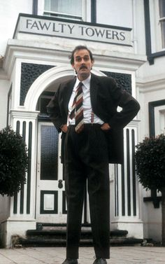 John Cleese / publicity photo for Fawlty Towers 1975 & British Tv Comedies, Classic Comedies, British Comedy, British Actors, English Comedy, Fawlty Towers, Bbc, Real Tv, British Humor