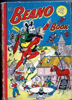 The Beano: top 20 book covers - in pictures Vintage Comics, Vintage Books, Comic Book Covers, Comic Books, Comic Art, Life In The 1950s, Children's Comics, Thing 1, Childhood Days