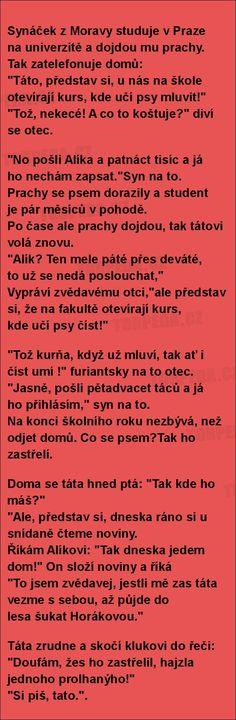Synáček z Moravy studuje v Praze... | torpeda.cz - vtipné obrázky, vtipy a videa Funny Moments, Relax, Jokes, Decor, Decoration, Husky Jokes, Memes, Decorating, Funny Pranks