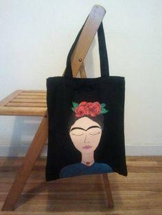 Tote Bag Frida (pintada a mano)