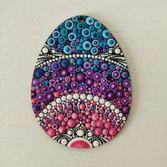 4 Easter Art on Wood Dotart Egg Dotilism Egg Easter | Etsy