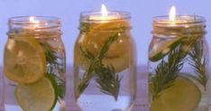 Learn how to make your own mosquito repellant at home! With this fun DIY bug repellant in a mason jar, you won't be bored and you won't get bitten! Mason Jars, Pot Pourri, Pots, Limes, Home Hacks, Clean House, Chandeliers, Cleaning Hacks, Helpful Hints