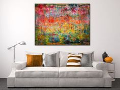 """SOLD artwork """"Infinity Field"""" by abstract painter Nestor Toro"""