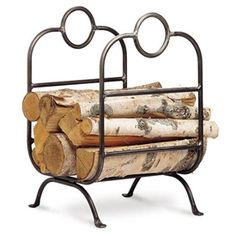 Forged Iron Fireplace Wood Holder by Pilgrim Home and Hearth at Timeless Wrought Iron