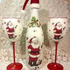 Christmas Wine Bottles, Dollar Store Christmas, Christmas Diy, Christmas Candle, Snowman Crafts, Christmas Crafts, Christmas Decorations, Felt Crafts, Diy Crafts