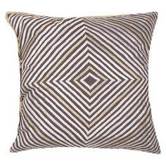 """Jaipur En Casa By Luli Sanchez Decorative Pillow - Gray/Ivory (18""""x18"""")"""