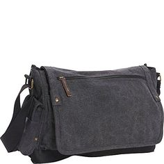 Vagabond Traveler Casual Style Canvas Messenger Bag Grey * Want additional info? Click on the image.