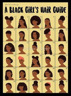 A Black Girl's Hair Guide by Karissa Tolliver Black Girl Hair, Black Hair Afro, Black Hair Curly Styles, Black Girl Style, Hair Braiding Styles Black, Black Hair Tips, Black Girl Braids, Braids For Black Hair, Black Girl Braid Styles