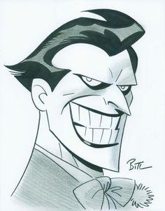 Batman and The Joker by Bruce Timm Joker Cartoon, Le Joker Batman, Joker Art, Batman Art, Cartoon Art, Joker Logo, Gotham Batman, Batman Robin, Joker Kunst