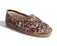 leopard toms with fleece inside