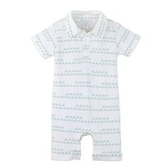 Feather Baby Little Boys Pima Cotton Collared Short Sleeve Romper ** Check this awesome product by going to the link at the image. (This is an affiliate link) #BabyBoyFootiesandRompers