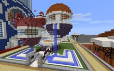 Bubble House, a Minecraft creation. Minecraft Stuff, Minecraft Buildings, Bubble House, Minecraft Creations, Bubbles, Mansions, Water, Fun, Gripe Water