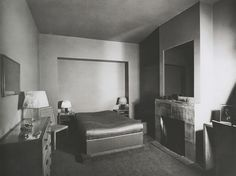 Dream The End  Bedroom in the Apartment of Mr. Von Berge, ca 1929, Photo by Jean Collas Jean-Michel Frank
