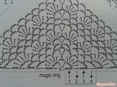 Crochet Shawl Diagram, Crochet Chart, Crochet Motif, Crochet Stitches, Knit Crochet, Crochet Patterns, Crochet Shawls And Wraps, Crochet Scarves, Crochet Clothes