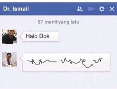 oh my god. tulisan dokter -- #chat facebook