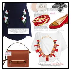 """""""Hot : Hermes Roulis"""" by mlaurag0 on Polyvore featuring Oris, Red Herring, Chicwish, NOVICA, Fresh, Oscar de la Renta, Charlotte Olympia and Chrysalis"""
