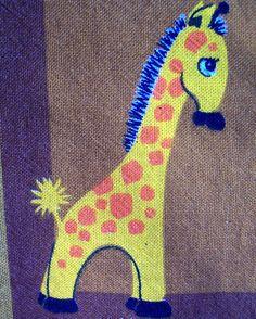 vintage giraffe fabric