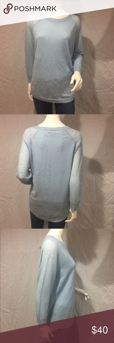 Light blue sweater Adorable light blue sweater with open knit on shoulders and sleeves. Loose fitting and light weight. Brand new with tags. Feel free to make me a reasonable offer 💕 J. Crew Sweaters Crew & Scoop Necks