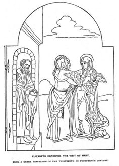 1000 images about nt mary elizabeth on pinterest for Mary visits elizabeth coloring page