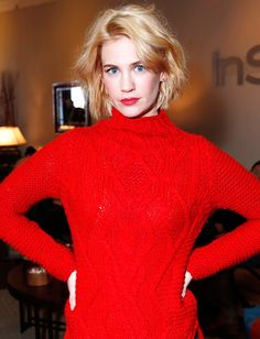 January Jones hair (and makeup)