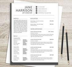 Linkedin Resume Template  Trendy Resumes  Jobs Standard