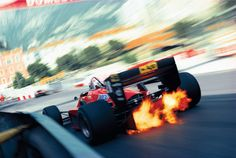 Stefan Johansson driving for Ferrari, Monaco 1985
