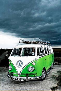 Retro cool VW Camper Van.  The perfect edition to any room. Buy it here: www.ebay.com/itm/D8399-Volkswagen-Camper-Van-VW-Green-Car-32x24-Print-POSTER-/321010402689?pt=Art_Posters&hash=item4abdb60581?roken2=ta.p3hwzkq71.bdream-cars  #ThrowbackThursday