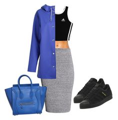 """Untitled #91"" by cocozx ❤ liked on Polyvore featuring H&M, adidas, Stutterheim, CÉLINE, women's clothing, women's fashion, women, female, woman and misses"