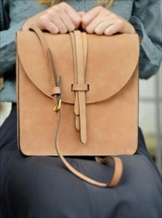 Young British Designers: Tan Cross Body Prussia Bag- Back in stock by M.Hulot - A forever bag. More uniquely yours with every wear. Understated, utilitarian beauty.