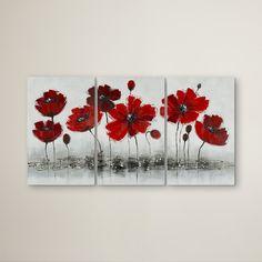 Found it at Wayfair - Works Poppy 3 Piece Graphic Art Set on Canvas