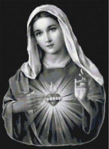 Virgin-Mary-Sacred-Heart-Catholic-Cross-Stitch-Pattern