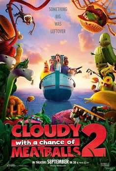 """Cloudy with a Chance of Meatballs 2″ Poster"